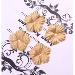 Silk 2.5cm Flower-heads - Gold (100pcs)