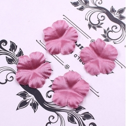 Silk 2.5cm Flower-heads - Dusky pink (100pcs)
