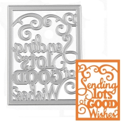 Printable Heaven die - Sending you Lots of Good Wishes (1pc)
