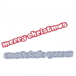Printable Heaven die - Merry Christmas wording (1pc)