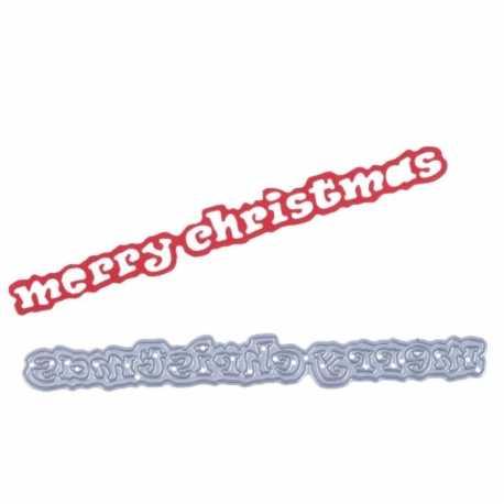 Printable Heaven die - Merry Christmas wording (1pc)