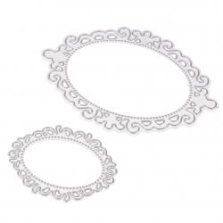 Printable Heaven dies - Ornate Oval Frames (2pcs)