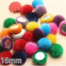 Hairy Buttons - Assorted (50pcs)