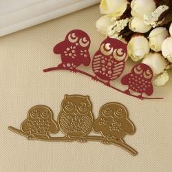 Printable Heaven dies - 3 Owls (1pc)
