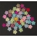 Flatback Pearl Flowers - Multi (50 pack)