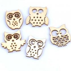 Wooden Owls (30pcs)
