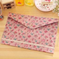 Floral A4 Folder - Salmon Pink