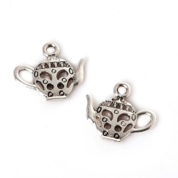 Metal Charms - Teapots (12)