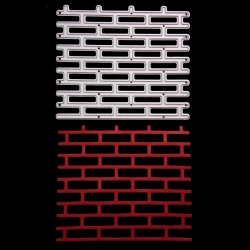 Printable Heaven die - Brick wall (1pc)