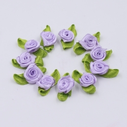 Ribbon Roses - Lilac (48pcs)