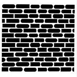Paint Stencil - Brick Wall 1 (1pc)