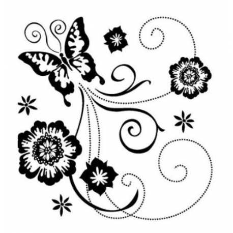 Clear stamp set - Butterfly Flourish (1pc)