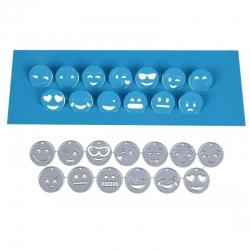 Printable Heaven dies - Emoji Pop-up Faces (13pcs)