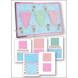 Download - Card Kit - Mini Origami Ice-Cream Swimsuits