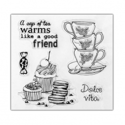 Clear stamp set - Tea-time (5pcs)
