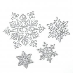 Printable Heaven dies - Snowflake set (4pcs)