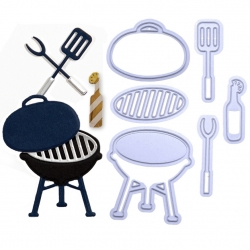 Printable Heaven dies - BBQ set (6pcs)