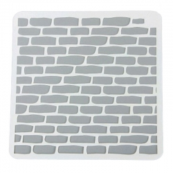 13 x 13cm Reusable Stencil - Brick Wall 2 (1pc)