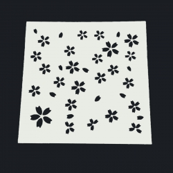 13 x 13cm Reusable Stencil - Little Flowers (1pc)