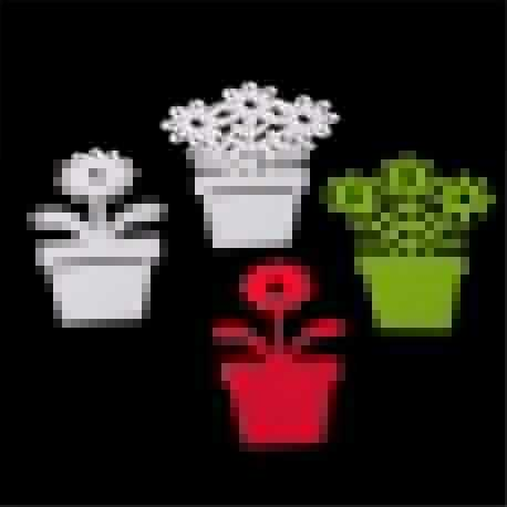 Printable Heaven dies - Flowers in Pots (2pcs)