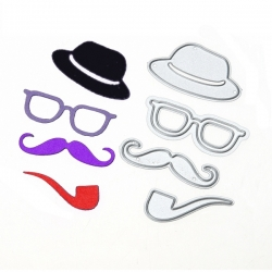 Printable Heaven dies - Moustache set (4pcs)
