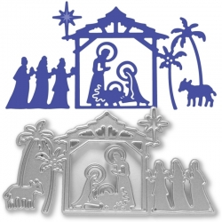 Printable Heaven die - Nativity Scene (1pc)