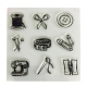 Clear stamp set - Sewing (9pcs)