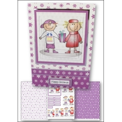 Download - Card Kit - Lance & Lucy with Present