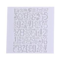 Reusable Stencil - Numbers (1pc)