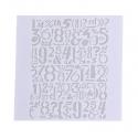 13 x 13cm Reusable Stencil - Numbers (1pc)