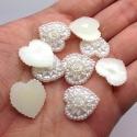 Pearl Wedding Hearts - Cream (30 pack)