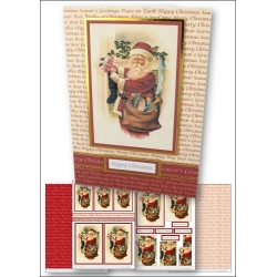 Download - Card Kit - Santa filling Stocking