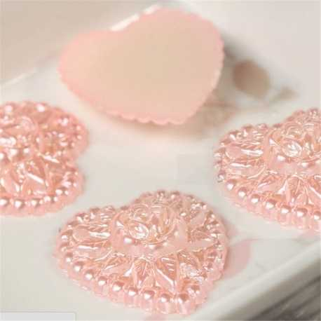 Pearl Wedding Hearts - Pink (30 pack)