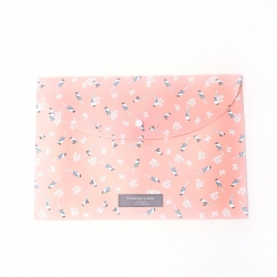 Plastic A4 Storage Folder - Pink Birds