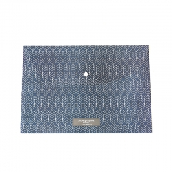 Plastic A4 Storage Folder - Navy Pattern