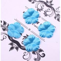 Silk 2.5cm Flower-heads - Blue (100pcs)