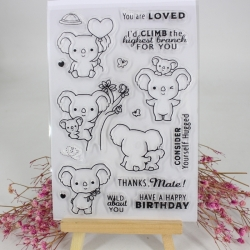 Clear stamp set - Koala Antics