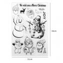 Clear Stamp set - Snowmen (12pcs)