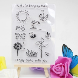 Clear Stamp set - Thanks for being my friend