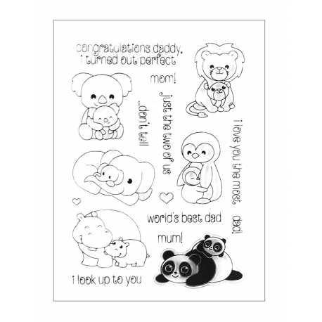 Clear Stamp set - Mother & Baby Animals