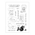 Clear Stamp set - Parent & Baby Animals (17pcs)