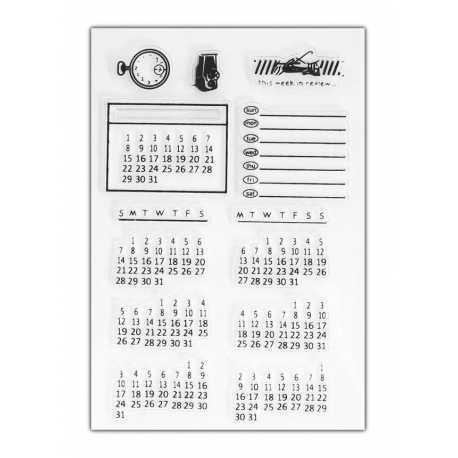 Clear Stamp set - Calendar (13pcs)