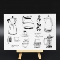 Clear Stamp set - Coffee (12pcs)