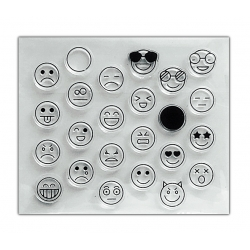 Clear Stamp set - Emoji Faces (24pcs)
