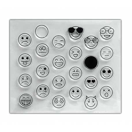 Clear Stamp set - Emoji Faces