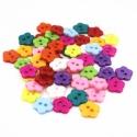 Flower Buttons Assorted (50pcs)
