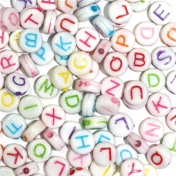 Alphabet Beads - Multi (100pcs)