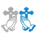 Printable Heaven die - Praying Hands & Cross (1pc)