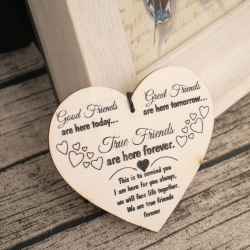 Wooden sign - True Friends (1pc)