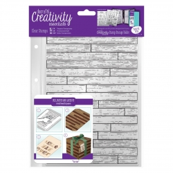 A5 Clear Stamp - Wooden Boards Background (DCE 907132)